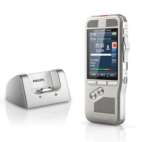 Philips Starterkit Pro - Diktiergerät DPM8200 mit Wiedergabeset 7277