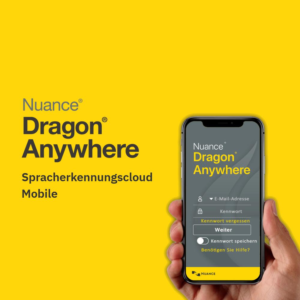 Dragon Anywhere Mobile Spracherkennung für Smartphone und Tablet