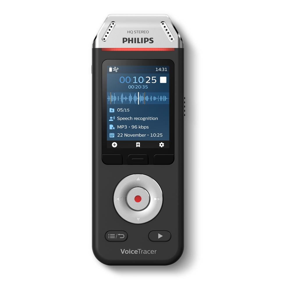Philips Audiorekorder mit Spracherkennung DVT 2810