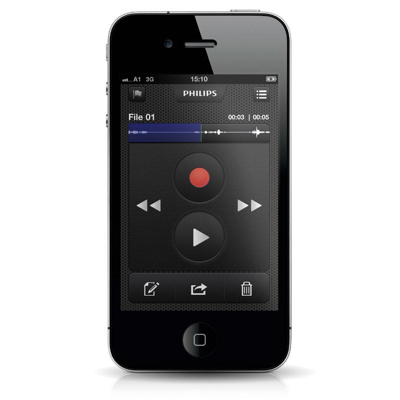 Philips Diktier App / Diktierrekorder für iPhone LFH0743