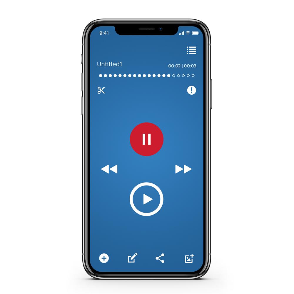 Philips Diktier App / Diktiergeräte App für iPhone LFH0743