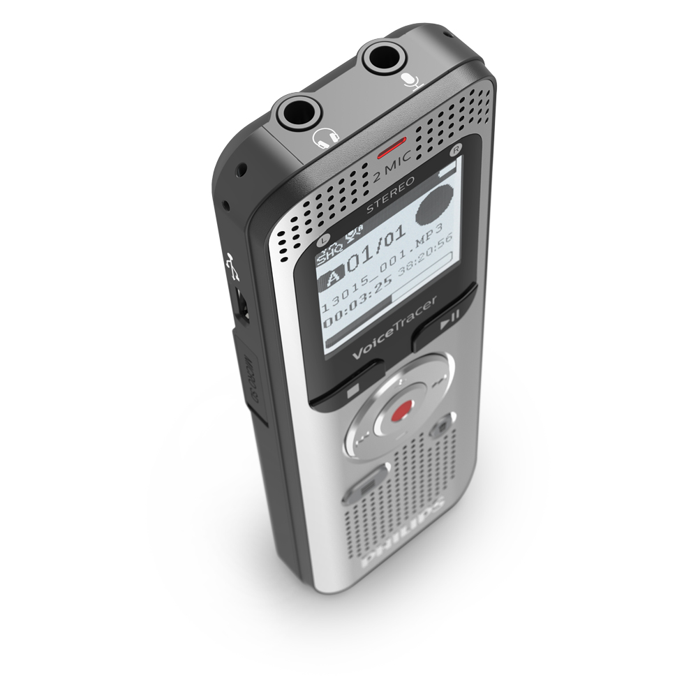 Philips Audiorekorder Digitaler Voice Tracer 2050 (DVT2050)