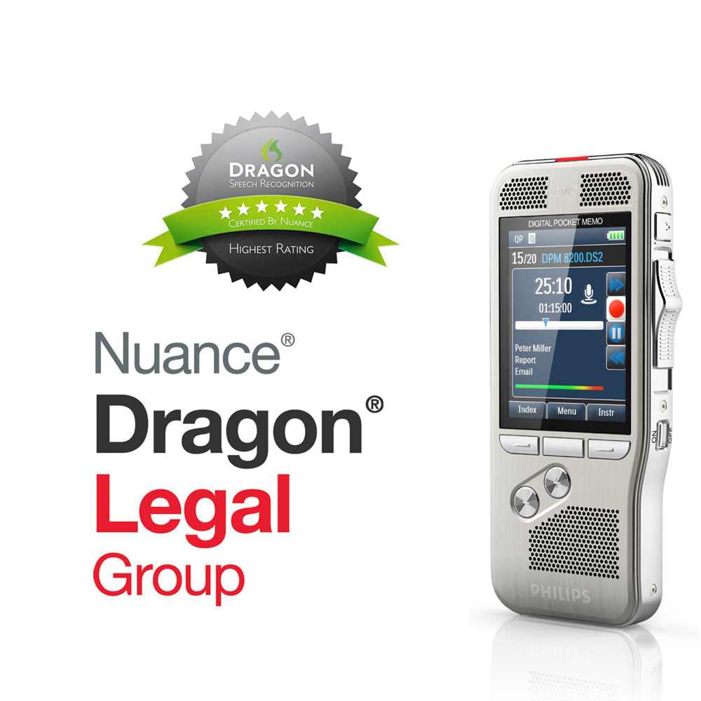 Philips Diktiergerät DPM 8200 mit Spracherkennung Dragon Legal Group 15