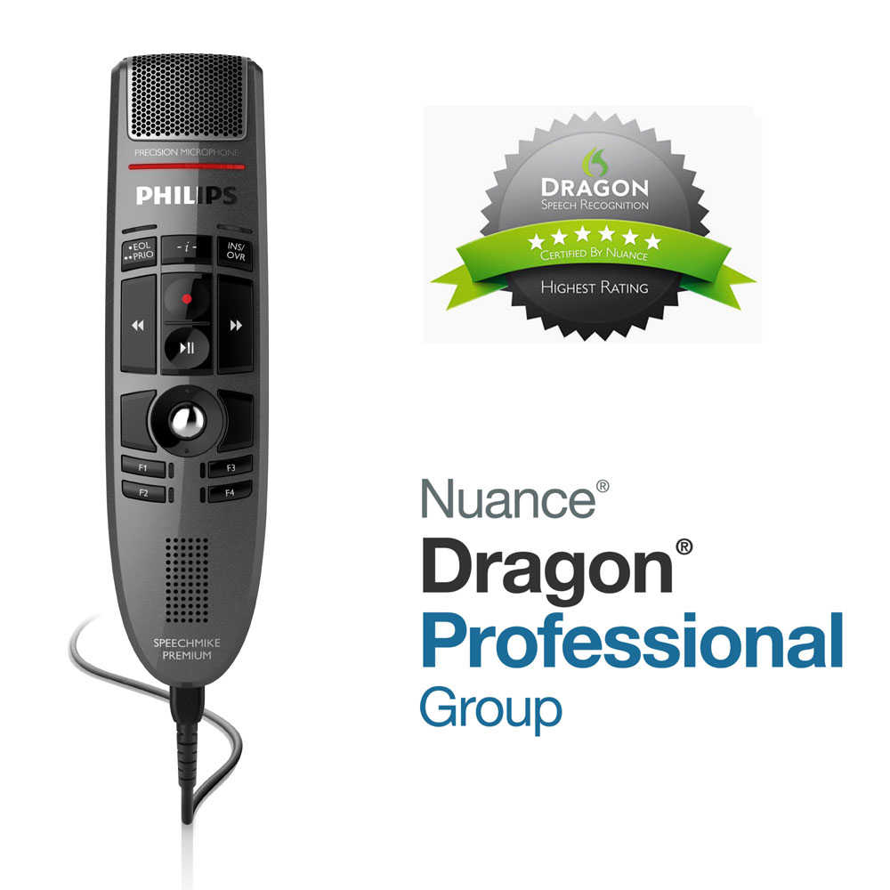 Philips SpeechMike Premium LFH3500 mit Dragon Professional Group 15