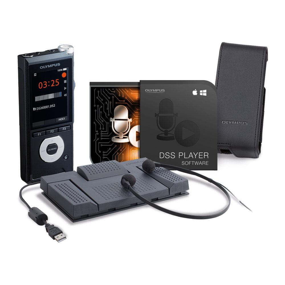 Olympus Starterkit Diktieren DS-2600 und AS-2400