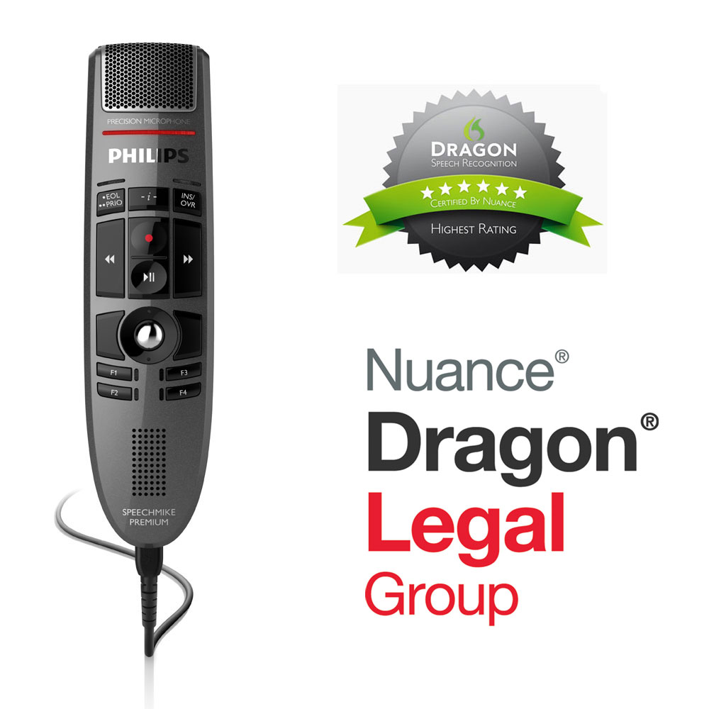 Philips SpeechMike Premium LFH3500 mit Dragon Legal Group 15