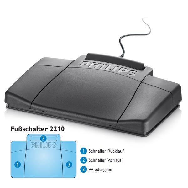 Philips Fußschalter LFH 2210 für Desktop 700 Serie