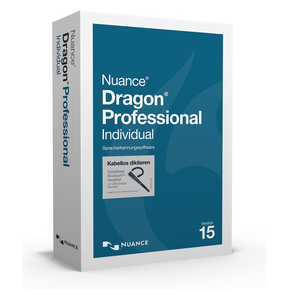 Spracherkennung Dragon Professional 15 Individual Wireless